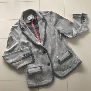 LOFT Blue & White Pinstripe Blazer - Size M